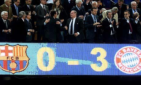 Барселона 0-3 Бавария, ответный матч 1/2 ЛЧ 2012/13, 01 мая 2013 года
